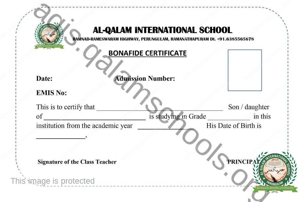 bonafiled certificate