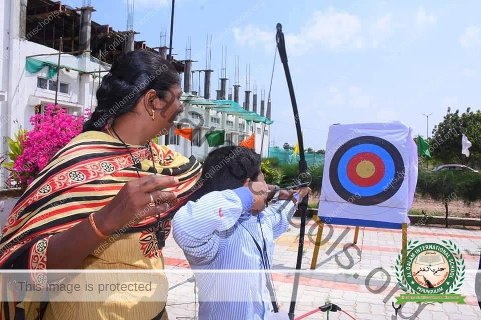focus on archery training